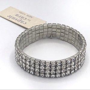 Capsule by Cara NY Crystal Stretch Bracelet NWT